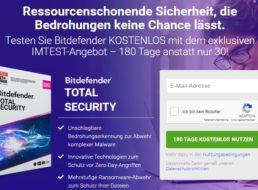 "Gratis: ""Bitdefender Total Security"" 180 Tage zum Nulltarif"