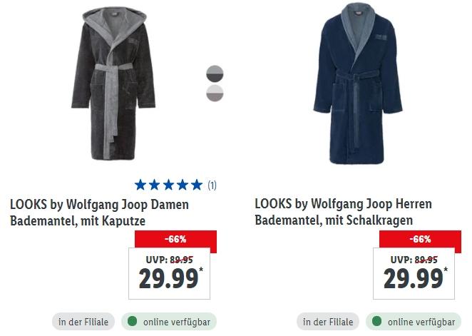 """Lidl: Bademantel und mehr von """"Looks by Wolfgang Joop"""""""