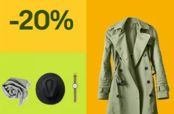 Ebay: Mode-Sale mit 20 Prozent Rabatt auch auf B-Ware