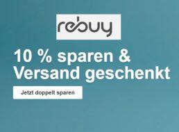 Rebuy: Gratis-Versand und 10 Prozent Rabatt bis Freitag