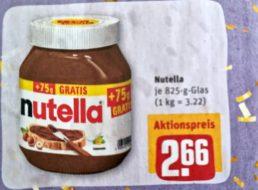 Rewe: Nutella zum Kilopreis von 3,22 Euro
