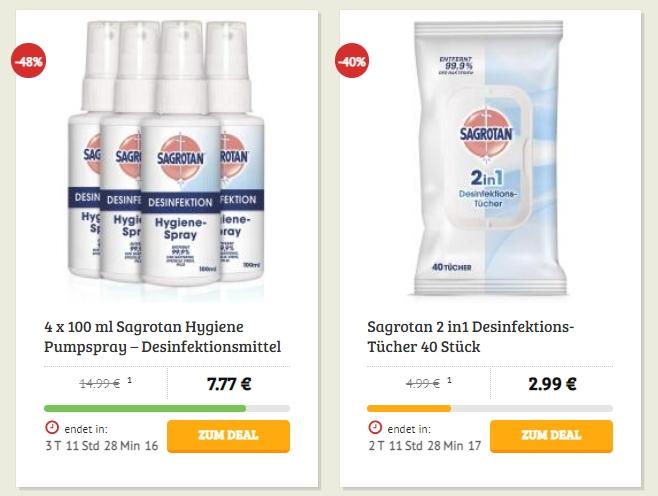 Dealclub: Sagrotan-Spray und Lorenz Crunchips mit Rabatt