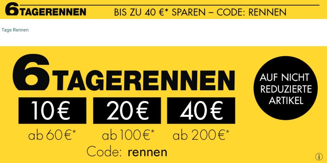 Galeria: 10 - 40 Euro Rabatt beim 6 Tagerennen