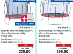 Lidl: Gratis-Versand mit Marken-Trampolin zum Bestpreis frei Haus