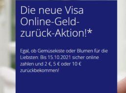 Visa: Cashback-Aktion mit bis zu zehn Euro Gewinn gestartet