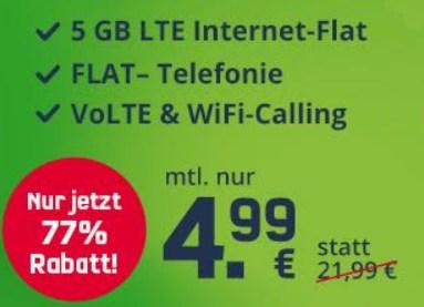 Vodafone: Green LTE mit fünf GByte und Telefonflat für 4,99 Euro