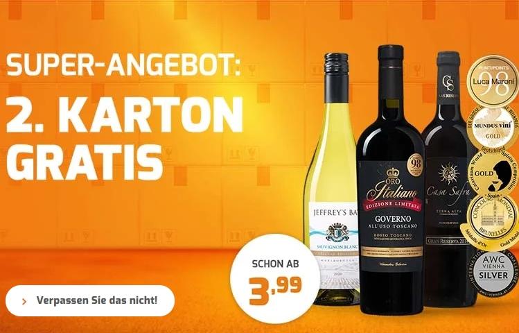 Weinvorteil: 12er-Pakete für 47,94 Euro frei Haus