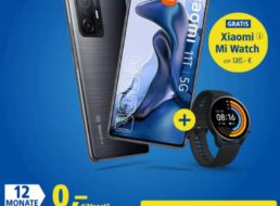 1&1: LTE-Flat mit Xiaomi 11T samt Smartwatch for komplett 639,87 Euro