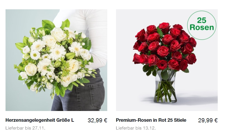 Blume2000: 10 Euro Rabatt ab 25 Euro Warenwert