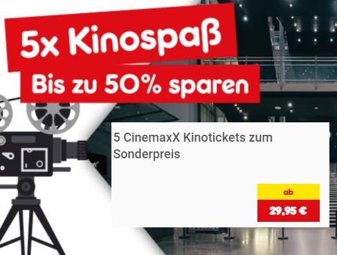 Netto: 5er-Pack Kinotickets für 29,95 Euro frei Haus