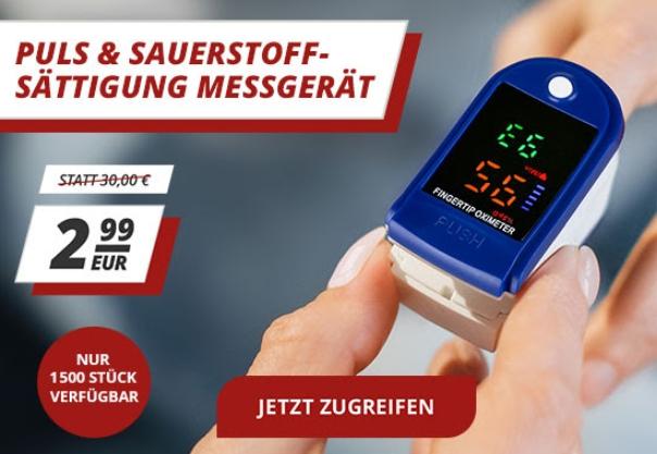 Druckerzubehoer: Finger-Pulsoximeter für 2,99 Euro