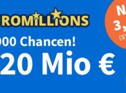 Rekord-Jackpot: EuroMillions jetzt bei 220 Millionen Euro