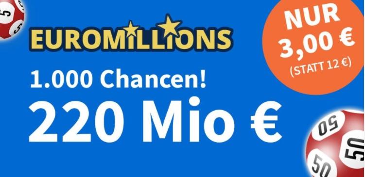 EuroMillions: Rekordjackpot von 220 Millionen Euro