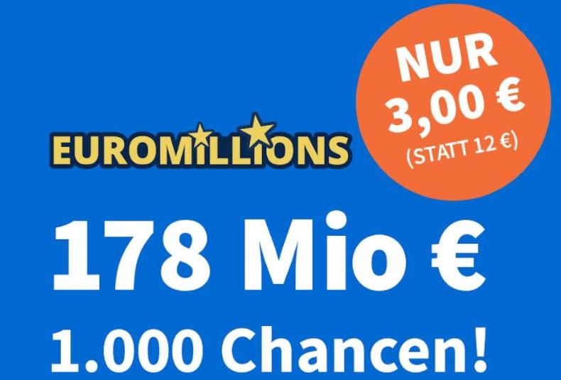 Euromillions: Jetzt 178 Millionen Euro im Jackpot