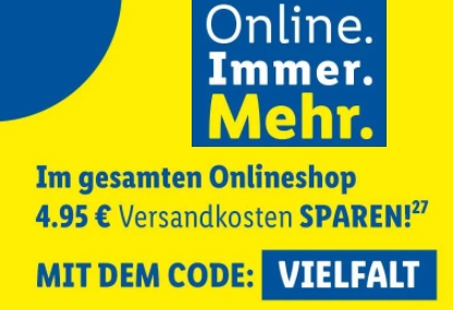 Lidl: Gratis-Versand ab 49 Euro Warenwert