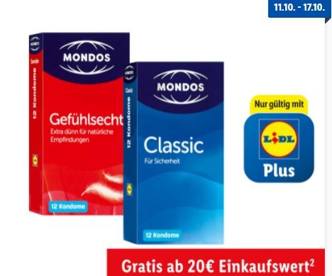 "Gratis: Kondome via ""Lidl Plus"" zum Nulltarif"