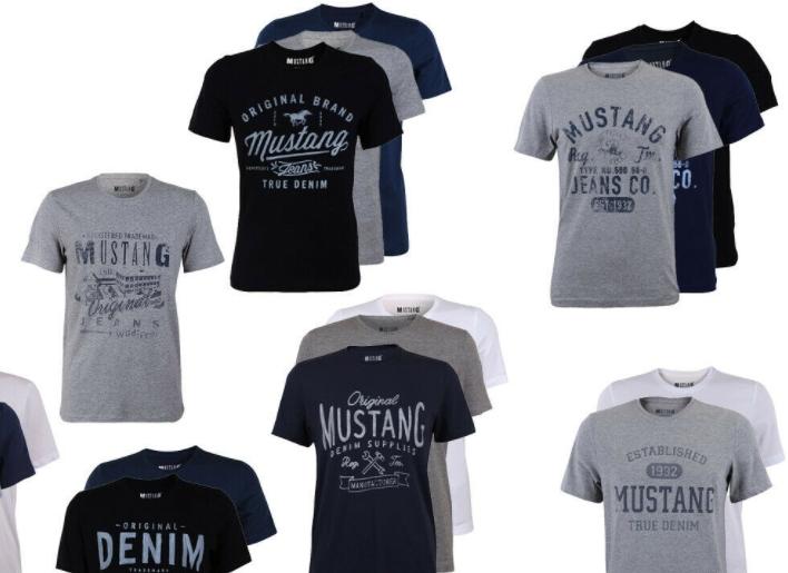 Mustang: T-Shirts im Viererpack für 39,95 Euro frei Haus