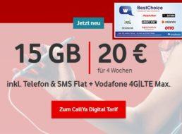 Gratis: Gutschein über 25 Euro zur Callya-Flat (15 GByte) für 20 Euro