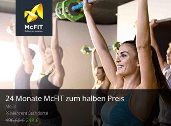 McFit: 24 Monate Mitgliedschaft mit automatischem Ende zum halben Preis