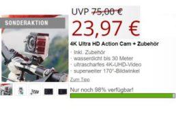 Druckerzubehoer.de: 4K-Actioncam für 23,97 Euro plus Versand