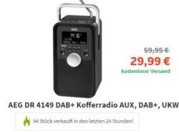 Völkner: DAB+ Kofferradio von AEG für unter 30 Euro frei Haus