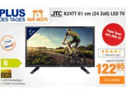 Plus: LED-TV JTC K24TT mit Triple-Tuner, DVB-T2 und Full HD für 122,95 Euro