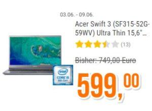 Acer Swift 3: Notebook mit Core i5 und Fingerprint für 599 Euro