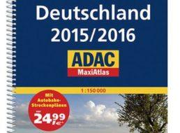 Exklusiv: ADAC Maxiatlas Deutschland 2015/2016 mit 10 Euro Rabatt