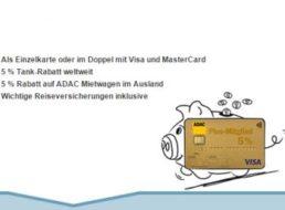 ADAC: Kreditkarte Gold jetzt mit fünf Prozent Tankrabatt