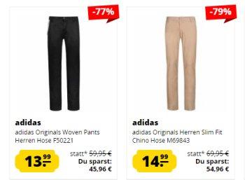 Adidas: Jenas und Chinos für 13,99 bis 18,99 Euro via Sportspar.de