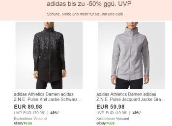 Adidas: Sale bei Ebay mit bis zu 50 Prozent Rabatt und Gratis-Versand