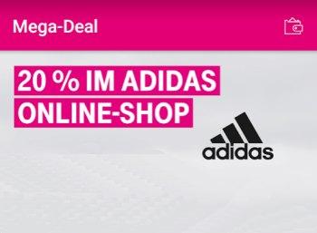 Telekom: 20 Prozent Rabatt im Adidas-Onlineshop via Megadeal-App