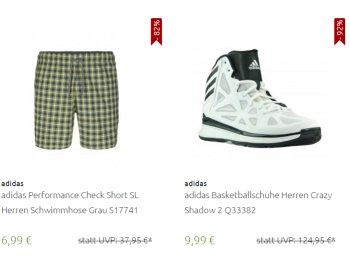 Adidas: Sale mit Artikeln ab 4,99 Euro frei Haus