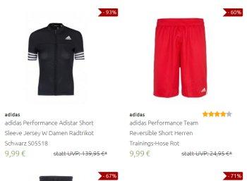 Adidas: Sale bei Outlet46 mit Artikeln ab 9,99 Euro frei Haus