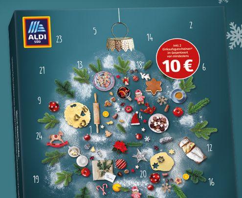 Aldi-Süd: Adventskalender mit Gutscheinen über 10 Euro für 12,95 Euro