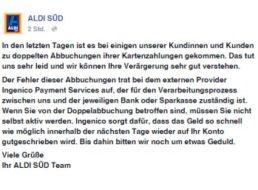 Bestätigt: Doppel-Abbuchungen bei Aldi-Süd – Kunden erhalten Geld zurück