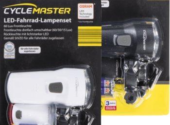 Aldi-Nord: LED-Fahrradlampenset mit Osram-Leuchtmitteln für 7,99 Euro