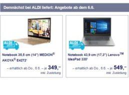 Aldi-Liefert.de: Drei Notebooks ab kommendem Donnerstag im Angebot