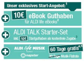 Aldi Life eBook: Start am 20. Oktober mit 3G-Tablet Medion E6912 für 129 Euro