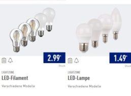 Aldi-Nord: LED-Leuchtmittel mit dreijähriger Garantie zu Schnäppchenpreisen