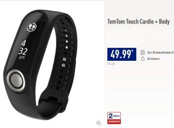 """Aldi-Nord: """"TomTom Touch Cardio + Body"""" zum Bestpreis von 49,99 Euro"""