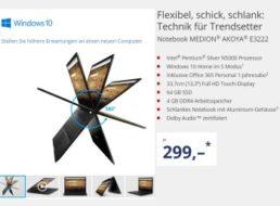 Aldi: Nikolaus-Notebook Medion Akoya E3222 für 299 Euro
