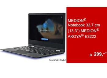 Aldi-Convertible: Medion Akoya E3222 ab Donnerstag für 299 Euro