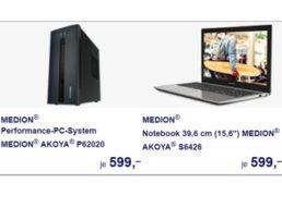 Aldi-PC: Neues Modell ab 25. Oktober im Süden, außerdem zwei Notebooks