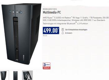 Aldi-PC: Medion Akoya P32010 für 499 Euro ab 14. März 2019