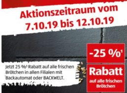 """Aldi-Süd: 25 Prozent Rabatt auf """"frische Brötchen"""" bis Samstag"""
