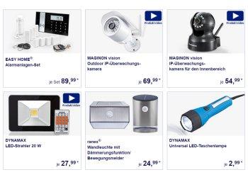 Aldi-Süd: Alarmanlagen, Überwachungskameras und Scheinwerfer