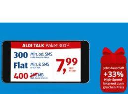 Aldi Talk: Bis zu 100 Prozent mehr Datenvolumen zum gleichen Preis