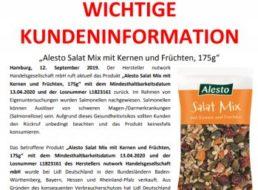 """Salmonellen-Alarm: Lidl ruft """"Salat Mix mit Kernen und Früchten"""" zurück"""
