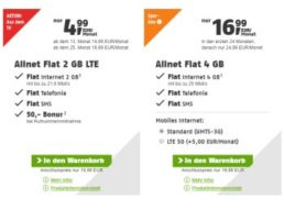 Klarmobil: Vodafone-Allnet-Flat ab 4,99 Euro